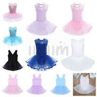 Toddler Girls Ballerina Costume Kids Ballet Dance Dress Dancewear Leotard Skirt