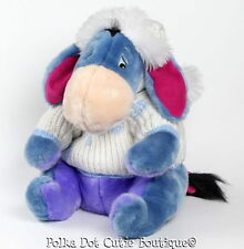 Disney Store Winter Snowflake Sweater Eeyore Stuffed Plush Toy