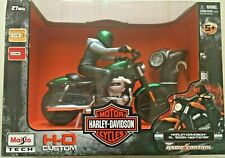 MAISTO HARLEY DAVIDSON XL TECH RADIO CONTROL 1200N NIGHTSTER GREEN NEW 5+
