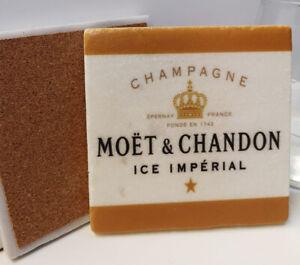 Champagne MOET & CHANDON,Moet Rose Marble Coaster, Champagne Lover Coaster gift