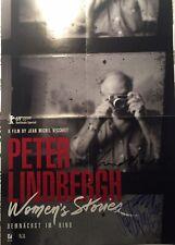 Peter Lindbergh signiert Auermann Berlinale Film Plakat autograph Autogramm