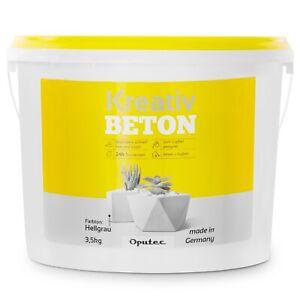 (4,27 EUR/kg) Oputec 3,5kg Kreativ Beton Bastelbeton Gießbeton Windlichter Deko