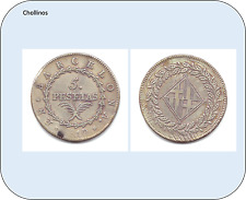 5 PESETAS  JOSE NAPOLEON  AÑO 1810  BARCELONA    ( MB11806 )