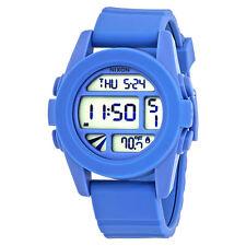 Nixon The Unit Mens Digital Marine Blue Rubber Watch A1971405