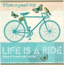 4 Single paper decoupage napkins. It's the journey, bike, life is a ride - 547