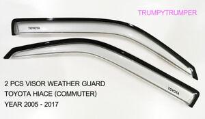 VISOR RAIN SHIELD WIND DEFLECTOR WEATHER GUARD TOYOTA HIACE COMMUTER 2005-2017