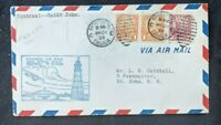 1929 Montreal Canada First Flight Cover to St John New Brunswick