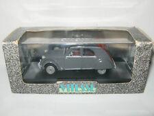 CITROEN 2CV GRISE 1957 Capote et interieur ROUGE / RED par VITESSE 009 au 1/43