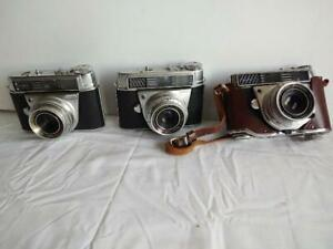 Lot of 3 Vintage Kodak Retina Automatic Rangefinder 35 mm Camera Automatic