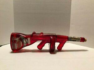 Tommy Gun Bottle Red Roaring 20's  Vintage Empty