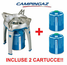 FORNELLO A GAS BIVOUAC CAMPINGAZ + 2 CARTUCCE GAS CV470 + IDEALE PER CAMPEGGIO