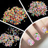 1000pcs 3D DIY Nail Art Tips Fimo Decoration Flower Fruit Clay Stickers Cute