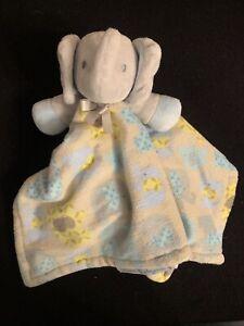 Blankets & Beyond Blue Elephant Security Blanket Lovey Lovie Gray/Blue
