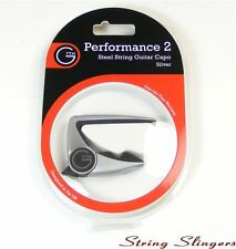G7th Performance 2 Capo for 6-String Guitar Silver 0232