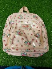 Cath Kidston Kids Pink Floral Flowers Backpack Rucksack Small Oilcloth Bag  #N