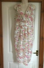 OLIVIA RUBIN London for DP Beige PInk & White Print Summery Dress UK 14 BNWT