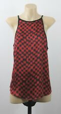 Size S 10 Ladies Red Sleeveless Top Singlet Casual Boho Chic Lounge Beach Design