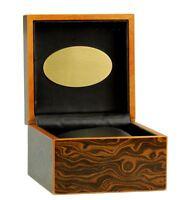 Uhrenbox fuer 1 Uhr Makkasar Design mit Gravurplatte Uhrenetui Uhrenaufbewahrung