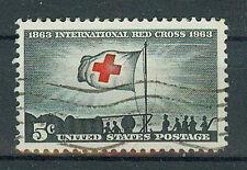 Briefmarken USA 1963 100 Jahre Rotes Kreuz Mi.Nr.852