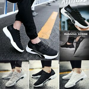 Mens Trainers Casual Fitness Lace Up Running Sneakers Shoes Sports Size UK 6-9.5
