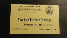 U S Stamps Reply Postal Cards Paid One Cent UY 3R Advertising New York City