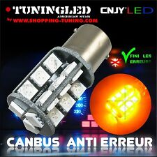 2 AMPOULE 27 LED ORANGE SMD CULOT PY21W 1056 BAU15S 1 PLOT ANTI SANS ERREUR ODB
