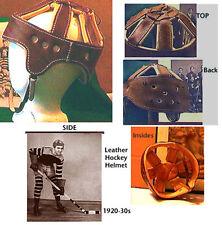 1920-30s Antique Style Leather Hockey Helmet