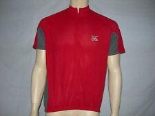 maillot de Cyclisme/vélo -DISTRIcycle, en polyester respirant, ROUGE en XL/NEUF