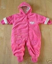 Baby Connection Cute Pink Plush Snowsuit 3-6 mos