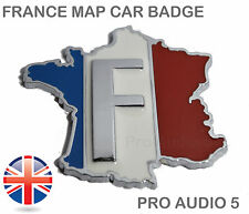 Badge Carte France voiture-Chrome-français CITROEN PEUGEOT RENAULT FOURGON-UK