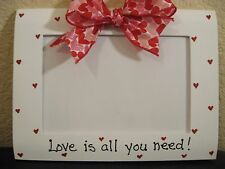 Happy Valentine's Day love Wedding hearts handpainted picture photo frame