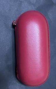 OMEGA TRAVEL POUCH RED LEATHER WITH FOAM INSERT