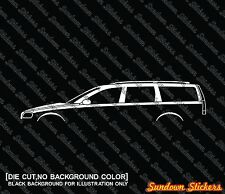 2x car silhouette stickers - for Volvo V70 , 2nd gen station wagon T5