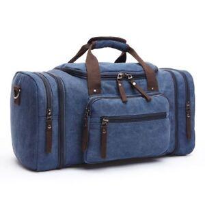 Men Large Capacity Canvas Handbag Portable Travel Shoulder Bag Work Out Bags