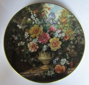 Certified Royal Doulton classic Florals : Yellow roses with Blue Iris ...