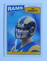 Jim Everett 1987 Topps Super Rookie #145 LA Rams Rookie Football Card