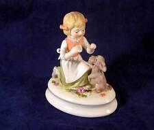 Goebel Ltd Ed Lore Blumenkinder Girl with Dog Figurine ETIQUETTE LESSON