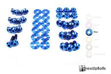 Dress Up Bolts for 06-07 Subaru WRX and STI Blue Ti Titanium Engine Bay Kit