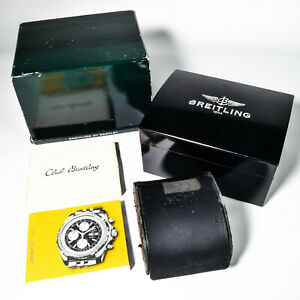 Authentic Breitling Bentley GT Vintage Black Watch Box Set and Outer Watch Case
