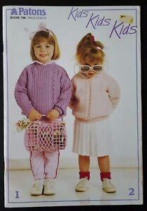 Patons Kids Kids Kids Knitting Pattern Booklet 796