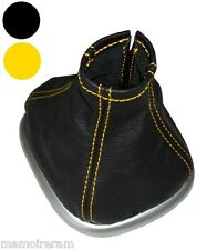 Soufflet de levier vitesse c. jaune en cuir pour pour Renault Scénic 2 2003-2009
