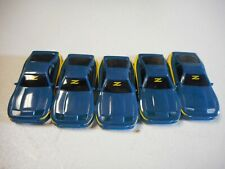 """TYCO 440-X2 WIDEPAN LOT OF 5 BLUE NISSAN 300ZX  BODIES """"NO HEADLIGHTS""""  (NEW)"""