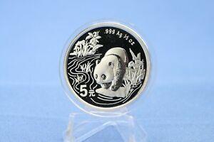 China 5 Yuan 1997 Panda  1/2 oz Silber *St/Bu * gekapselt