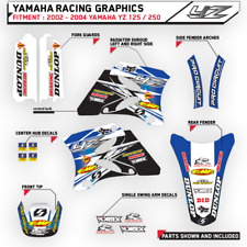 MOTOCROSS TEAM GRAPHICS YAMAHA 2002 2003 2004 YZ 125 / 250  DIRT BIKE DECALS