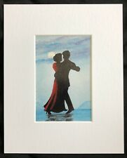 "Dancing In The Moonlight original mounted art print 10""x8"" G.Burgess Cornwall"