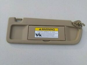 2006 - 2011 HONDA CIVIC PASSENGER RIGHT SIDE SUN VISOR TAN / BEIGE OEM