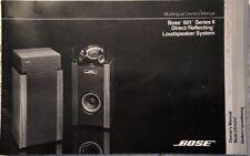 BOSE 601 SERIES II LOUDSPEAKER SYSTEM ORIGINAL MULTILINGUAL OWNER'S MANUAL M026