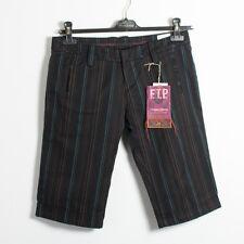 FREEMAN T PORTER Level Short Femmes Poly Strip Pants Pantalon Black w29