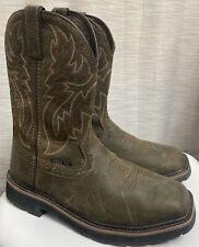 New listing Wolverine Men's Rancher Square Steel Toe Wellington Boots W10702, Size Us 9M Euc