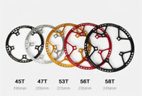 Round Chainring BCD 130mm Protective Chain Ring  45/47/53/58T for Folding Bike